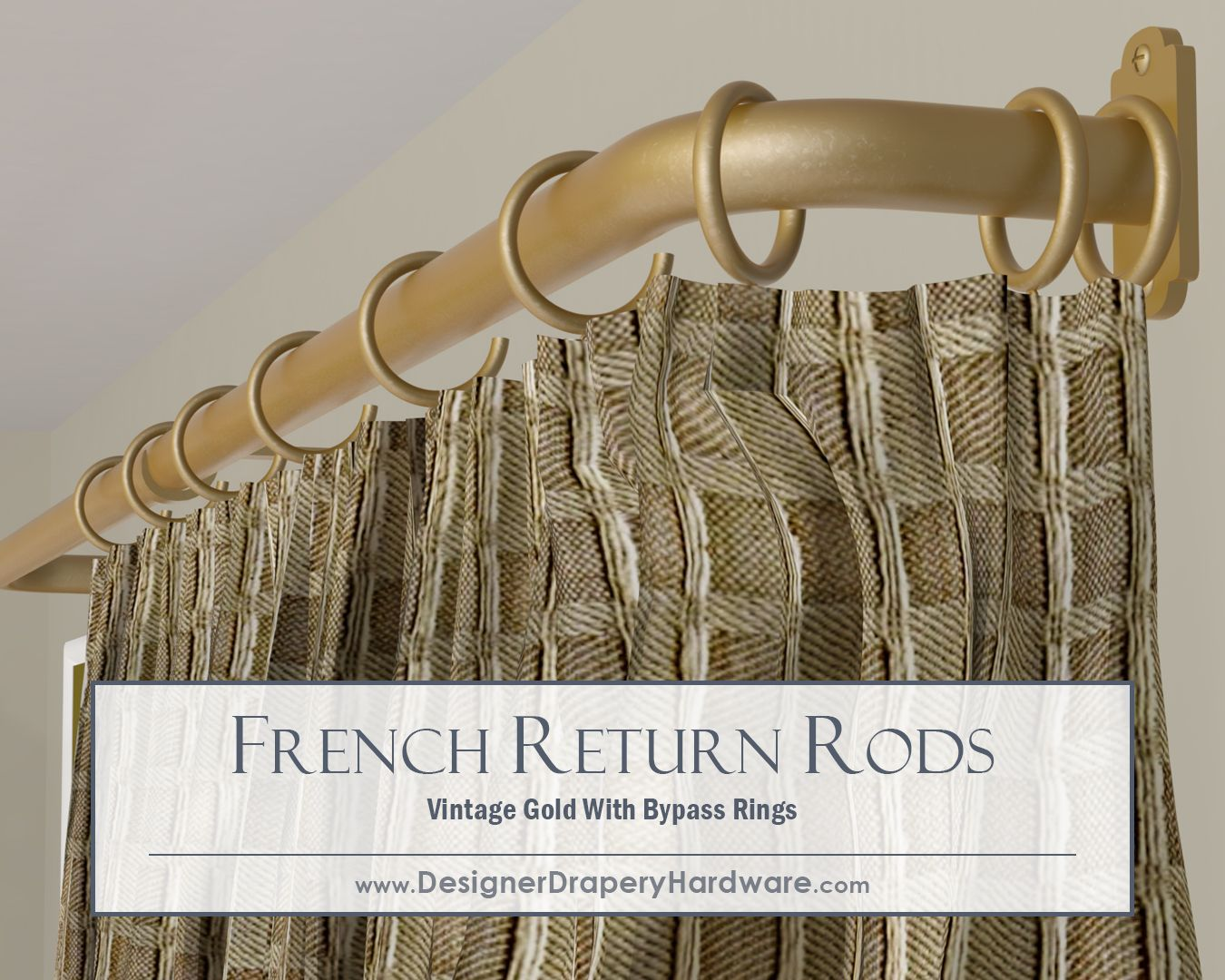 Large Span French Return Rods May Require Support Brackets But Byp Rings And Curtains