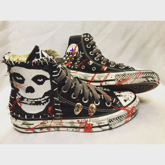 db69280dbee6 Misfits All Star Converse shoes by Chad by ChadCherryClothing