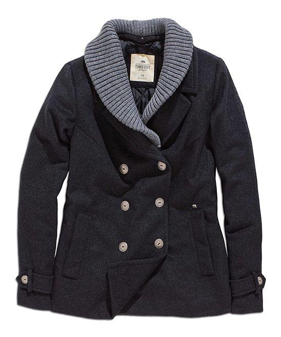 Shawl Collar Wool-Blend Peacoat