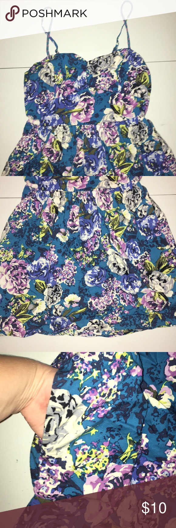 Floral Dress From Target Blue Purple Blue And Purple Floral Dress Purple Floral [ 1740 x 580 Pixel ]