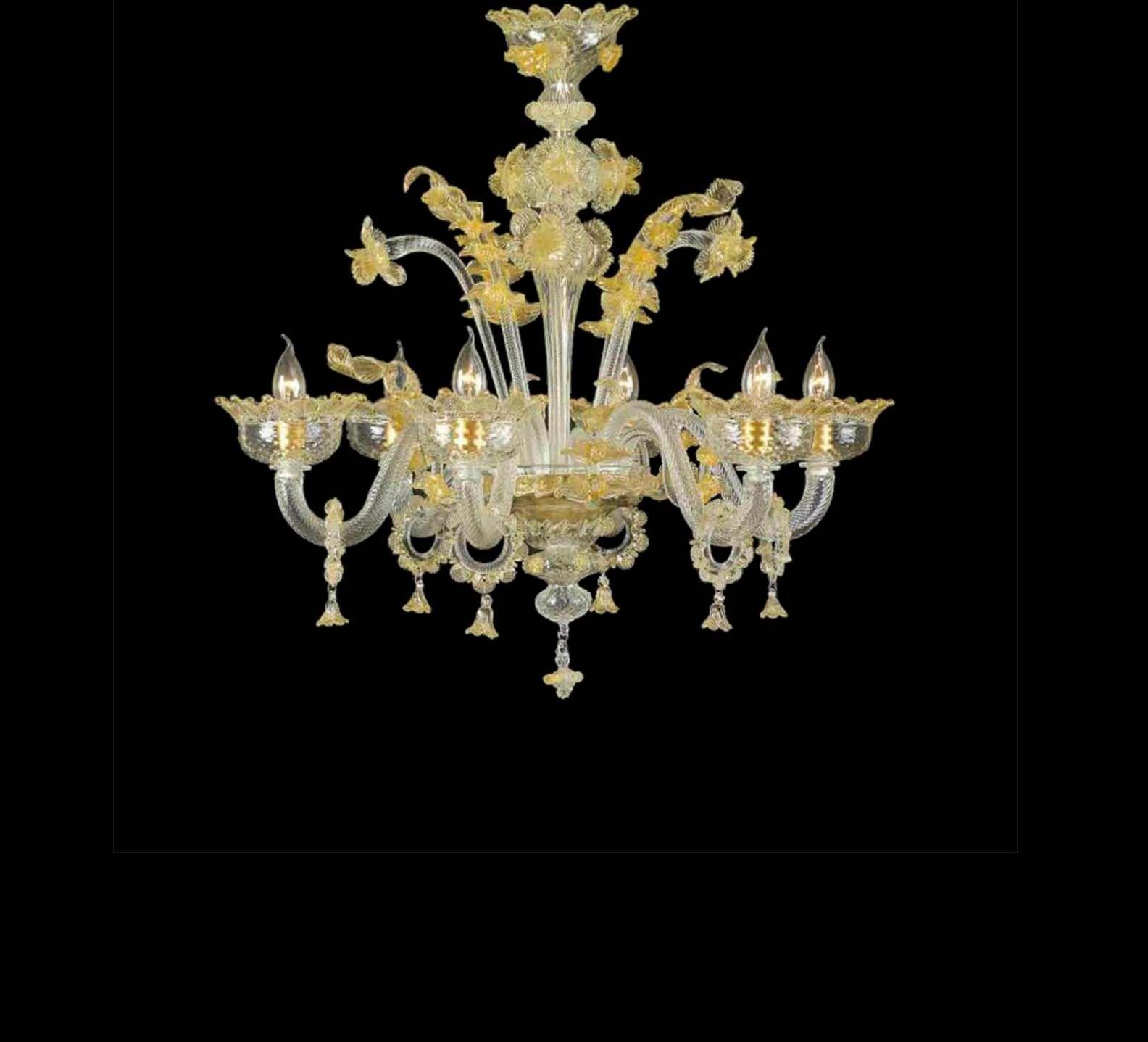 Lampadario murano di venezia 5 luci 6163/5 Lampadari