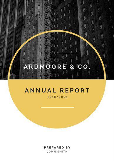 Grayscale Photo Company Corporate Annual Report | Graphic Design ...