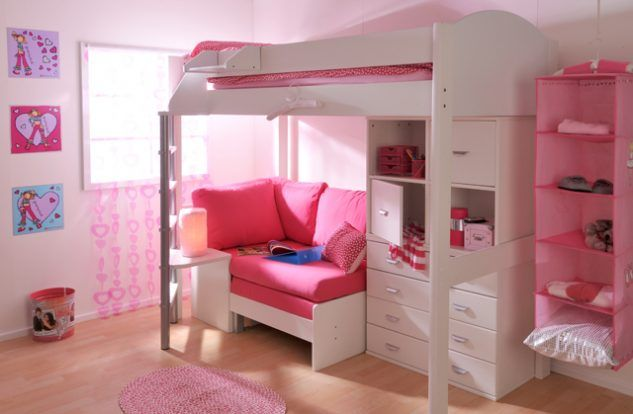12 Little Girls' Loft Bed That Combines Sleeping And Storage - Top Inspirations