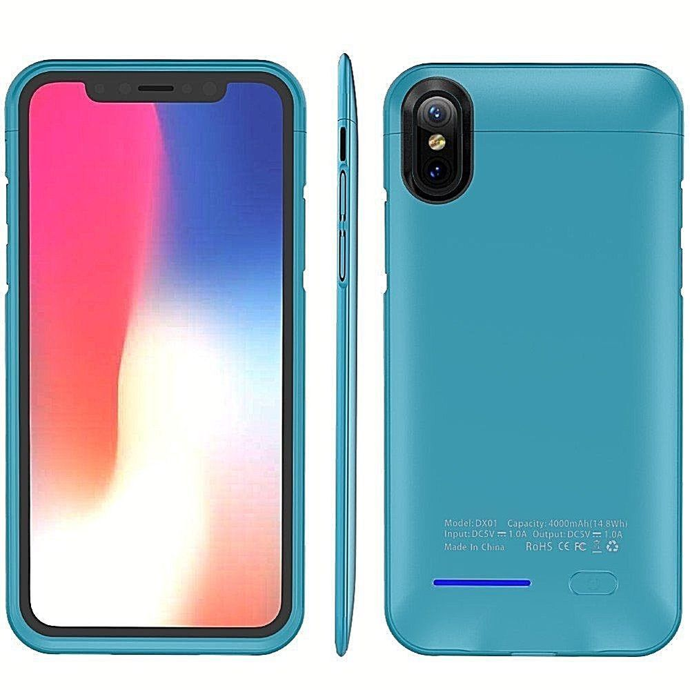 reputable site 22e57 5361c Apple Iphone X Portable Extended Battery Case 4000Mah & Magnet ...