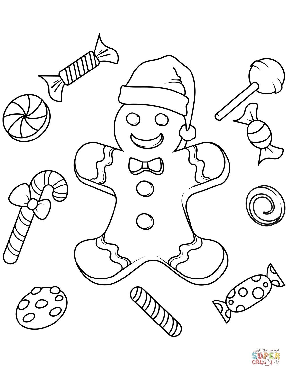 Gingerbread Coloring Pages Free Printable Gingerbread Man