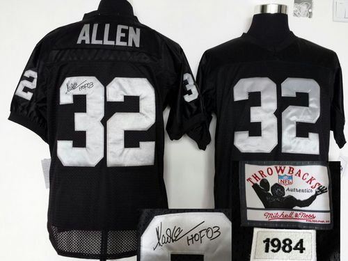 online store 83447 621f4 Mitchell And Ness Autographed Raiders #32 Marcus Allen Black ...