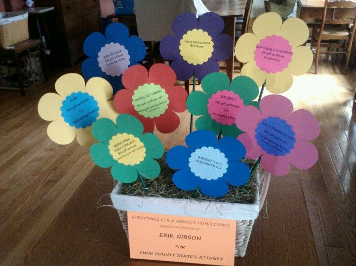 Each flower has gift card attachedraiser basket each flower has gift card attachedraiser basket negle Images