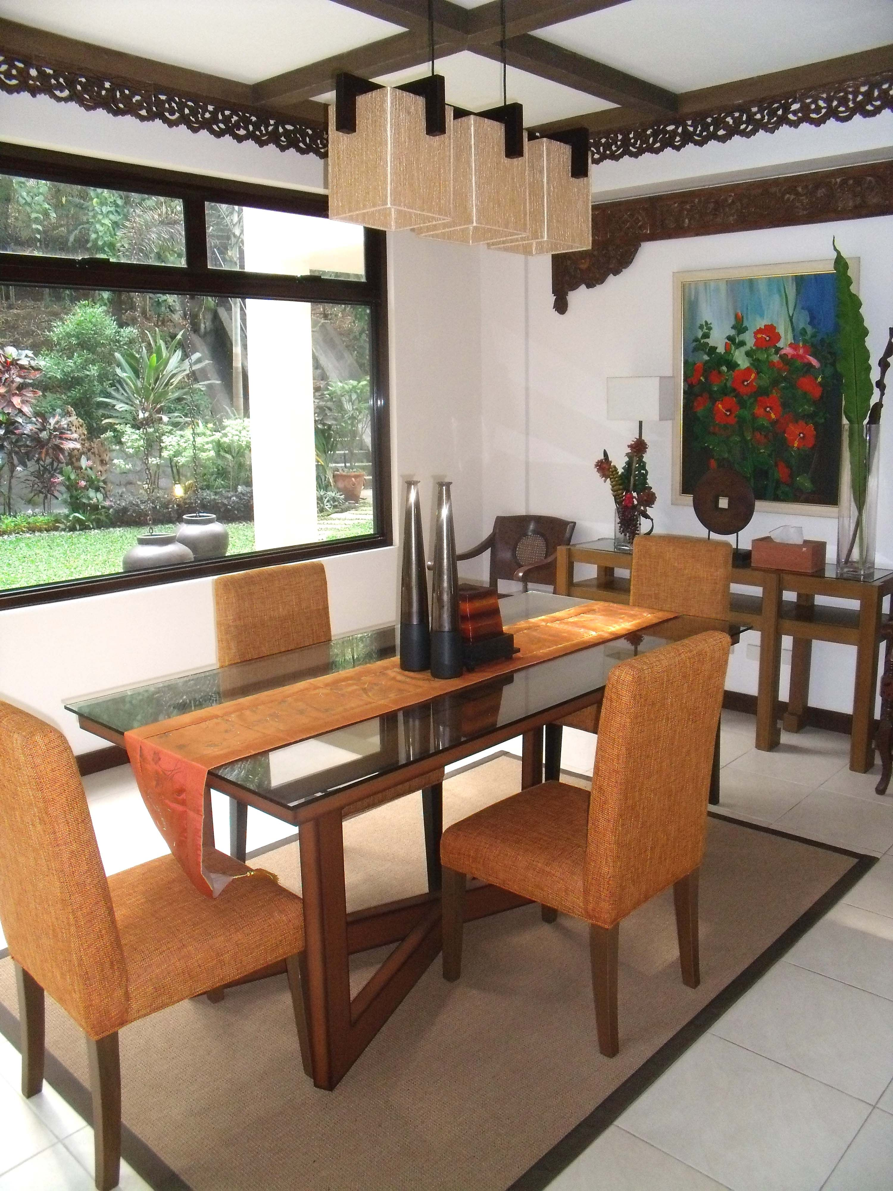 balinese inspired dining roomrvr interior design | inspired
