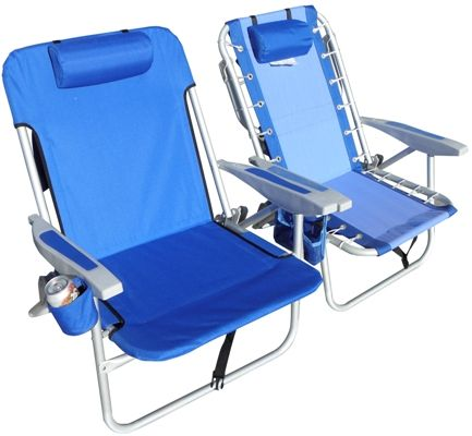 Rio Extra Wide Backpack Beach Chair Has Larger Seating Capacity Than Standard Chairs