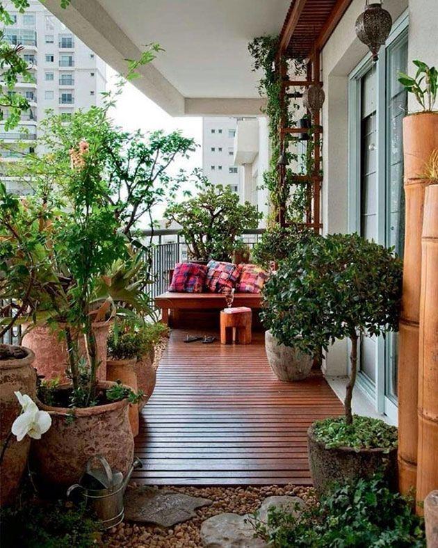 Como Hacer Un Jardin En La Terraza O Balcon 25 Fotos Ideas Y Consejos Jardin En Balcon Balcon Decoracion Balcones Con Plantas
