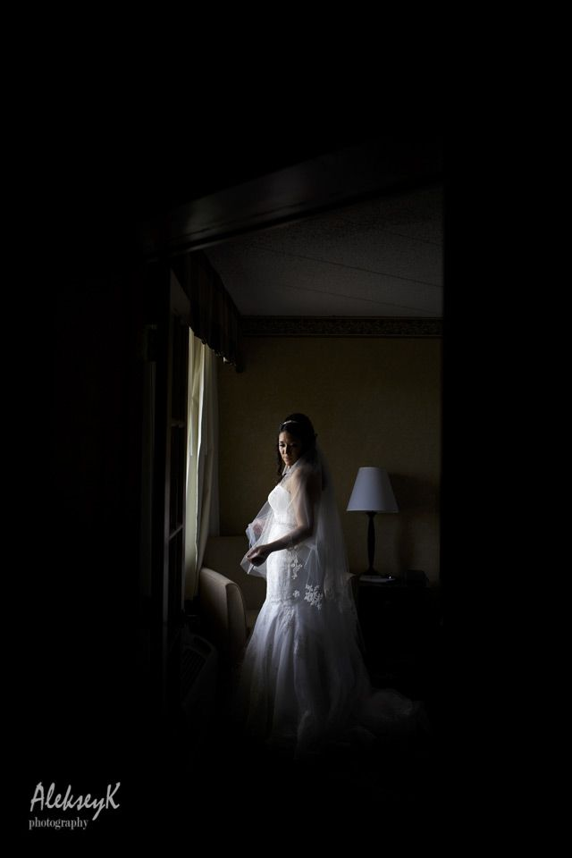 Creative Indoor Bride Portrait Ideas Buffalo Wedding Photographer