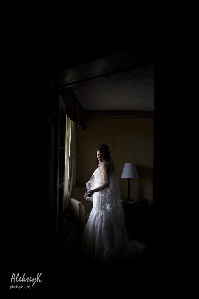 Creative Indoor Bride Portrait Ideas Buffalo Wedding Photographer