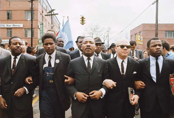 Dr Martin Luther King Jr Leads Protesters In The March From Selma To Montgomery In 1965 At The Far Right Is A Young Activist Now A Congressman John Lewis Martin