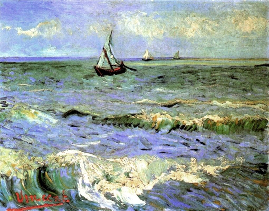 Seascape At Saintes Maries 1888 Vincent Van Gogh Arte Di Van