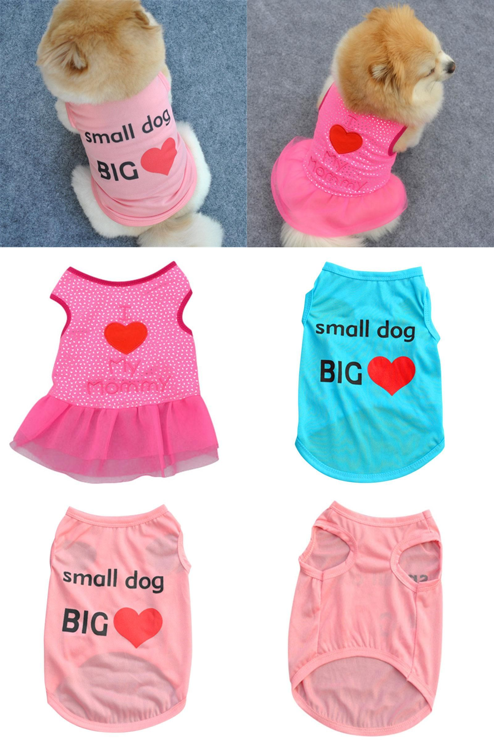 Visit to Buy Small Pets Dog Cute Apparel Vest Puppy Cat Coat