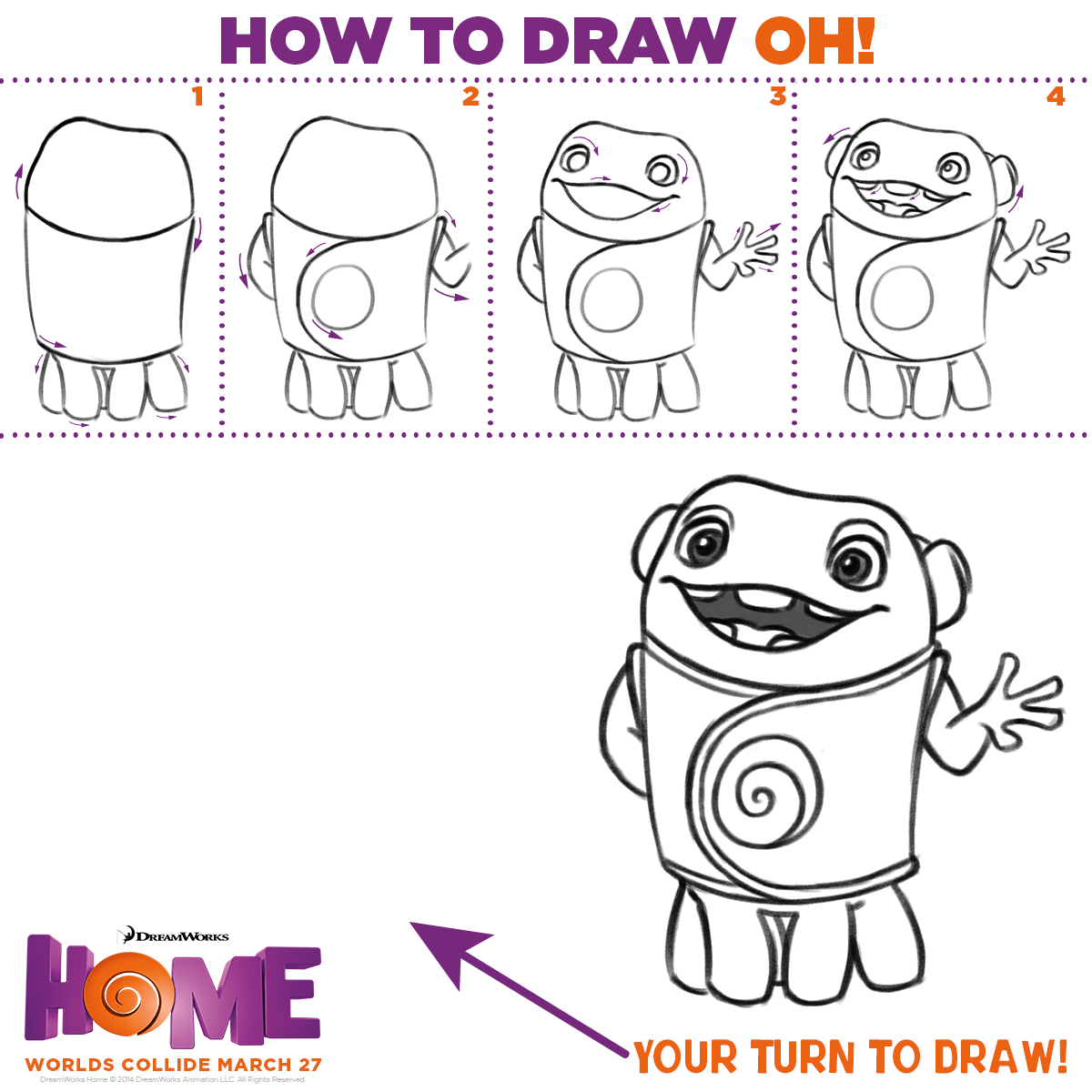 Channel your inner Boov - learn how to draw Oh! | drawing ...