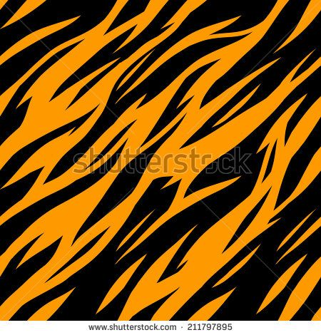 Abstract Print Animal Seamless Pattern Zebra Tiger Stripes Striped Repeating Background Texture Fabric Design Wallpaper Vector