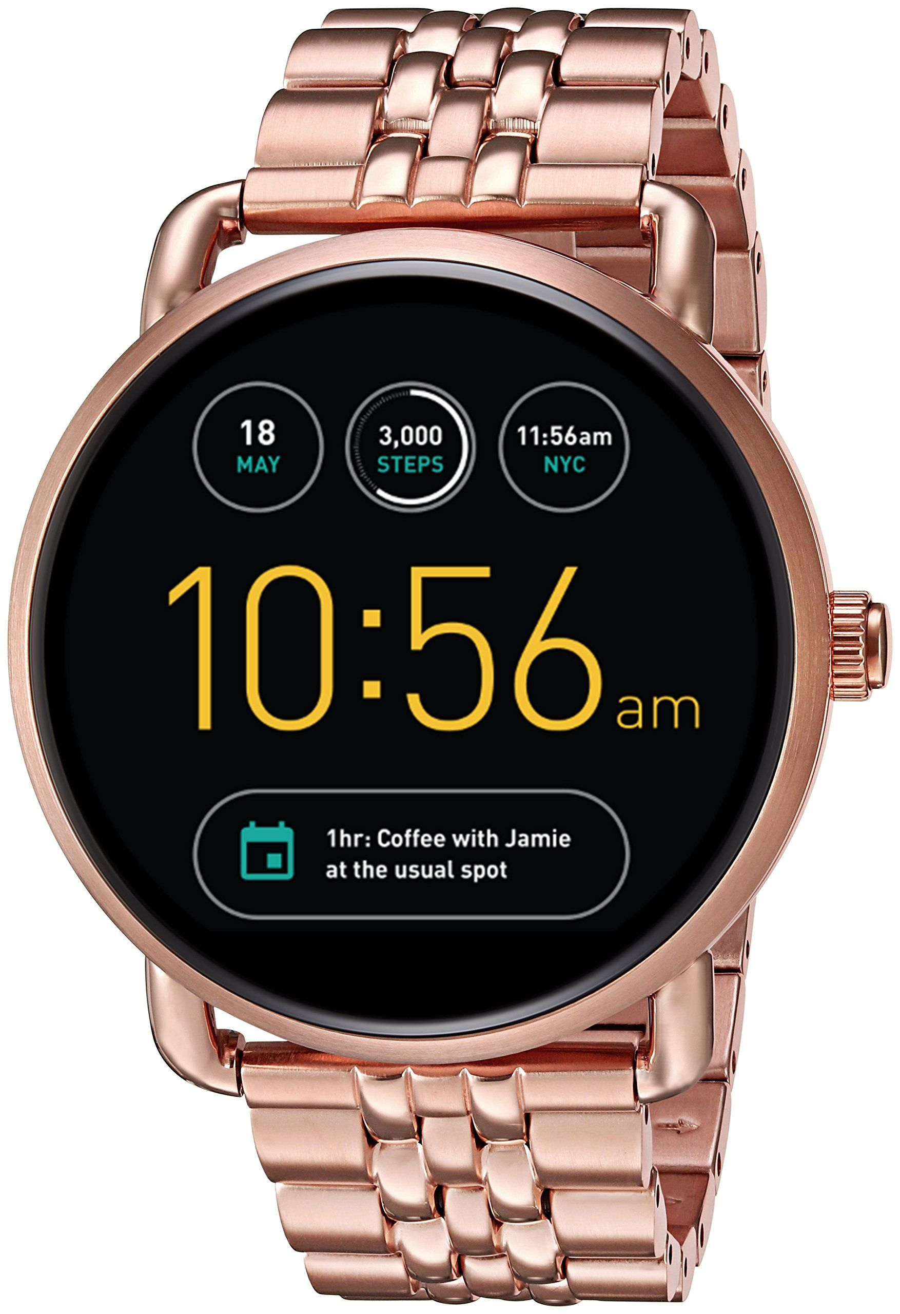 99d8ae631f9 Fossil Q Wander Gen 2 Rose GoldTone Stainless Steel Touchscreen Smartwatch  FTW2112    Click image for more details. Note  It s an affiliate link to  Amazon   ...