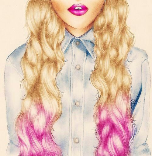 Ombre Blonde Hair Drawing Kristina Webb Art Drawings Black And White Drawing