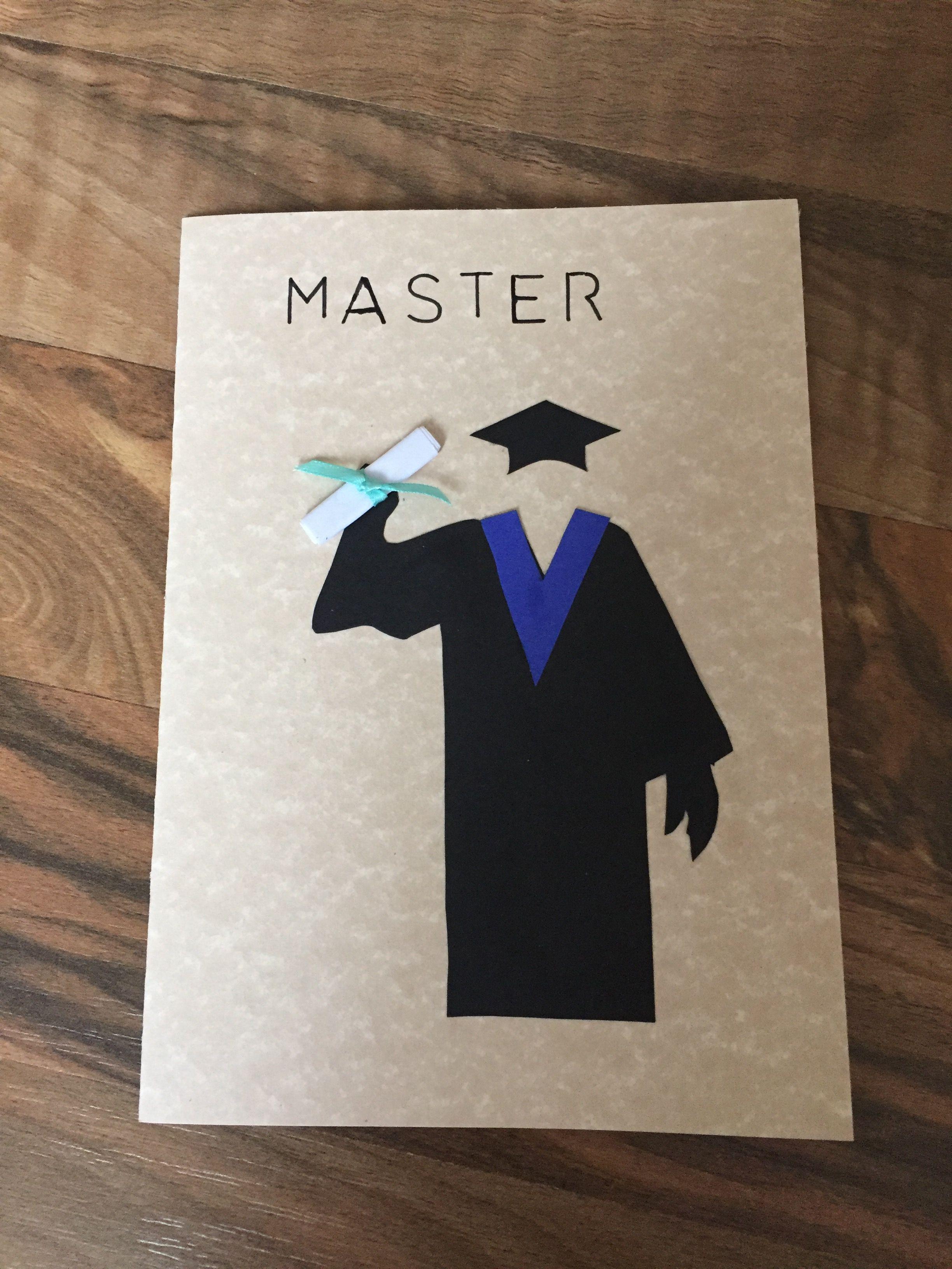 Graduation Abschlus Bestandene Prüfung Master Studium