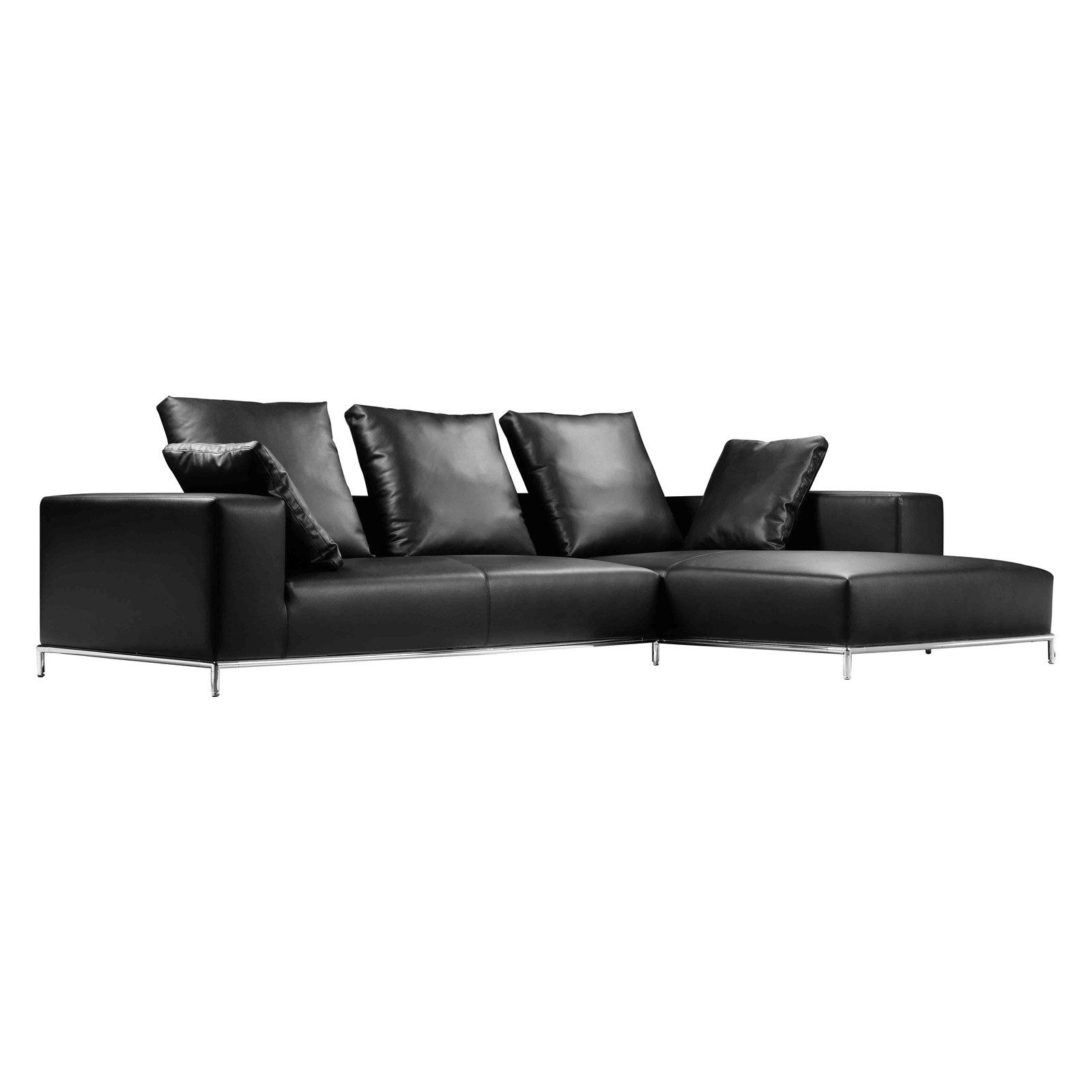 Pangea Home Kent Right Arm Facing Sectional - PETRA-RAF BLK