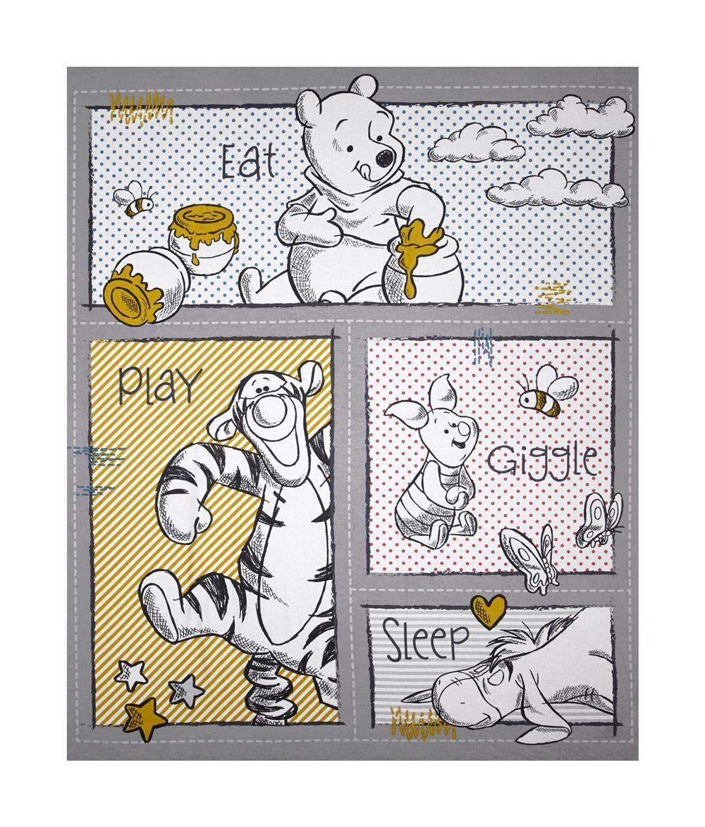 Disney/'s Tigger Winnie The Pooh Panel Cotton Print Quilting Fabric Springs