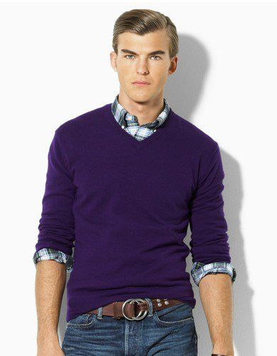 purple v sweat and plaid | Grown Man look | Pinterest | Big horses ...