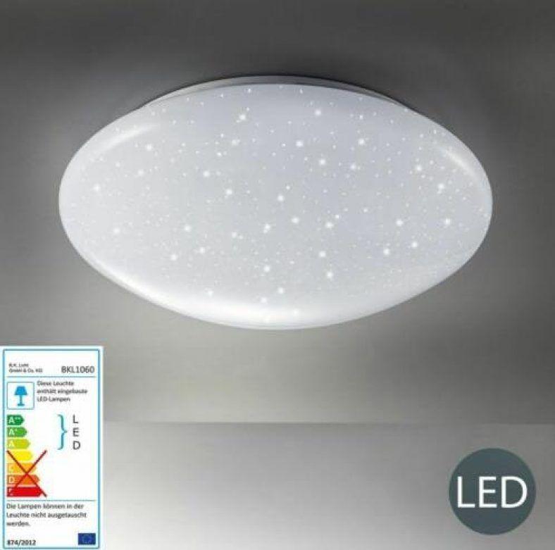 LED Decken Lampe Schlaf Zimmer Gold Effekt Sternen Himmel Kristall Glas Leuchte