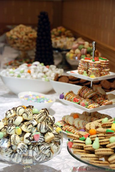 Italian Cookie Table For A Bridal Shower Or Baby Shower Or Wedding