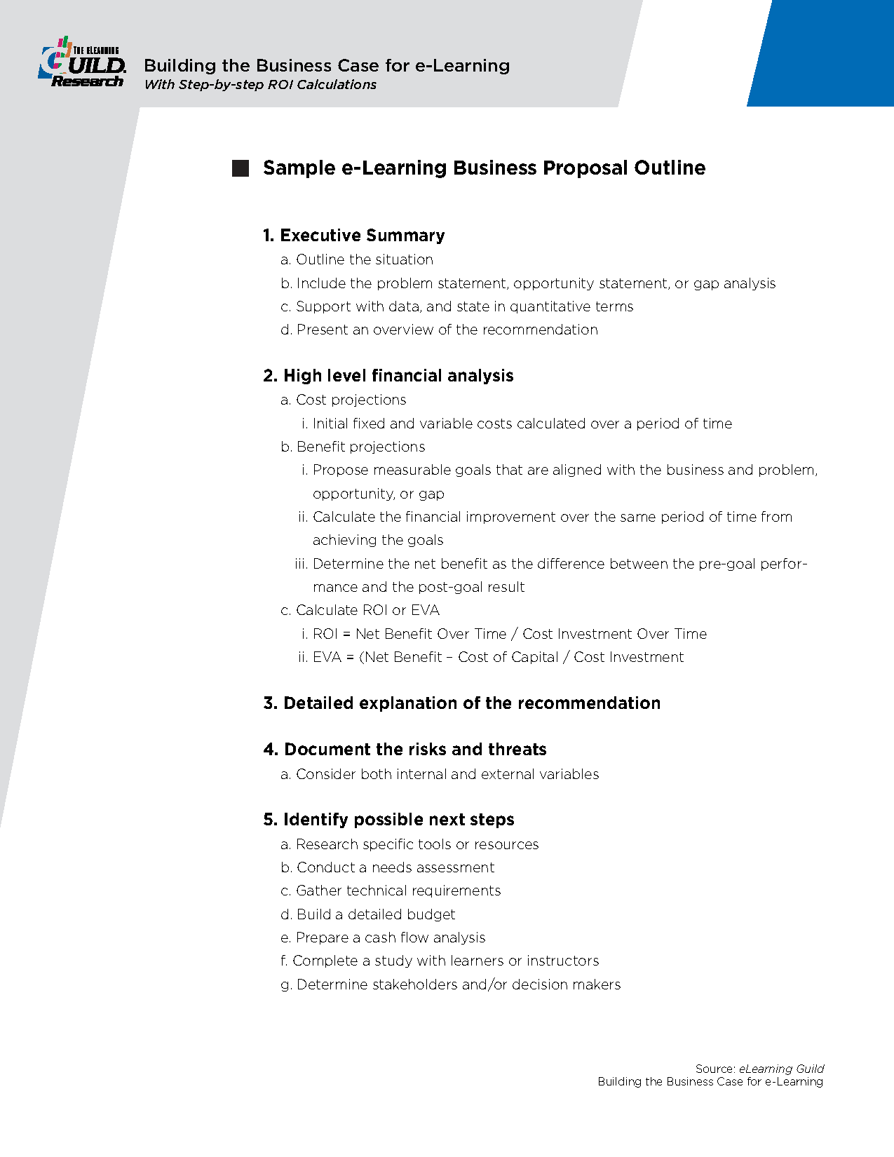 Sample Business Proposal Outline