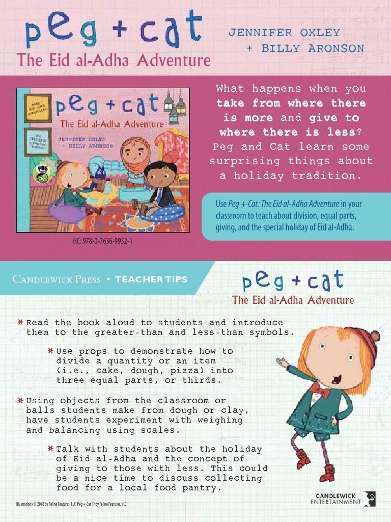 Peg Cat The Eid Al Adha Adventure Teacher Tip Card Free