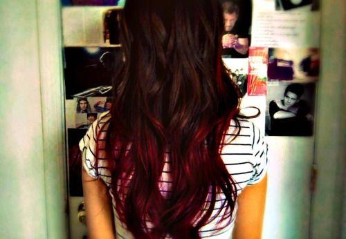 Red Dip Dye Red Dip Dye Hair Red Hair Tumblr