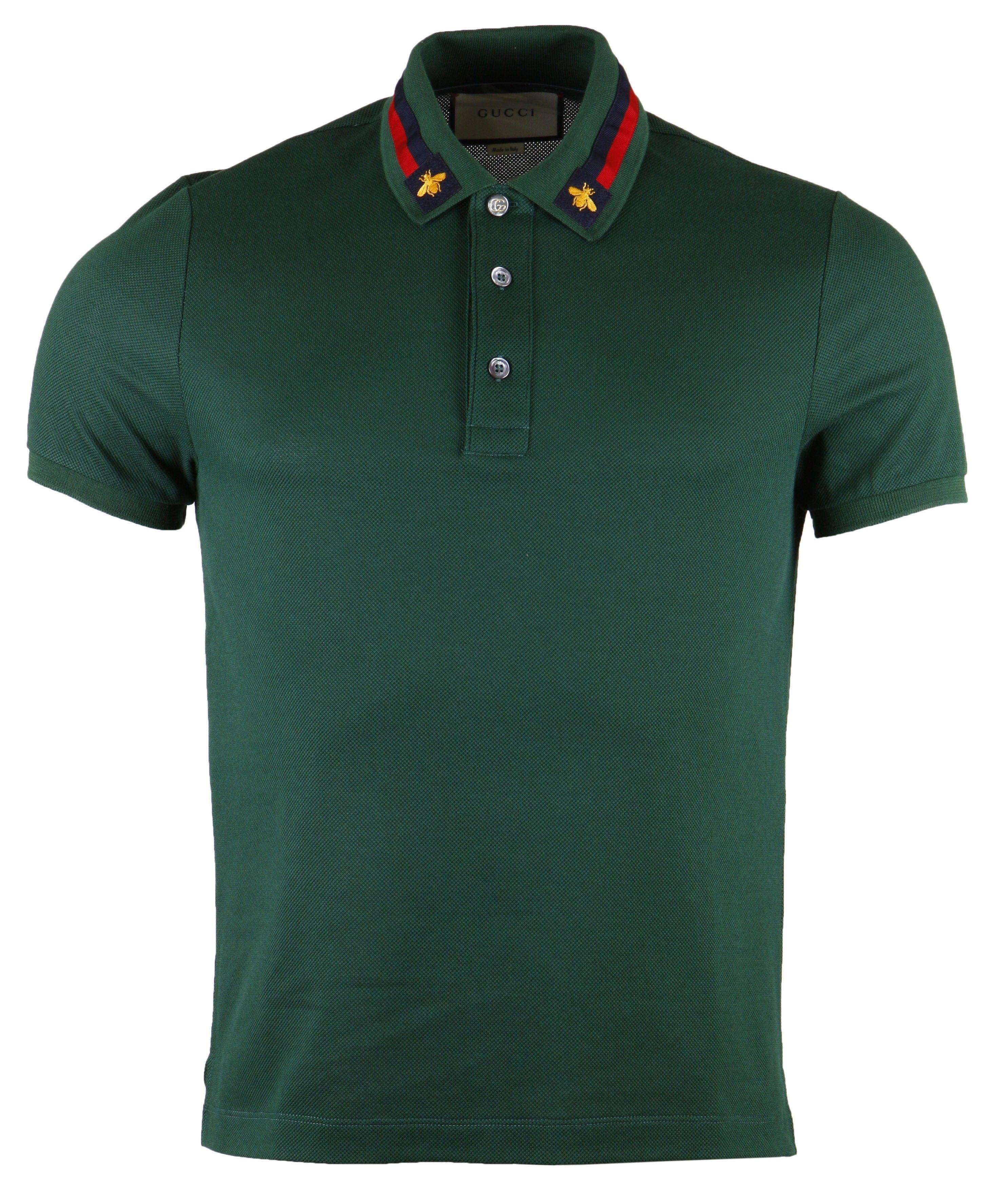 d96d3400de93 Gucci Web Trim   Bee Collar Polo T-Shirt   Polo Shirt   Polo t ...
