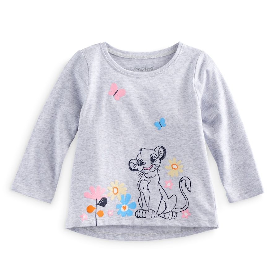 8ef37973661f Disney's The Lion King Baby Girl Simba Graphic Tee by Jumping Beans®,  Size: 12 Months, Light Grey