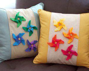 pinwheel pillows