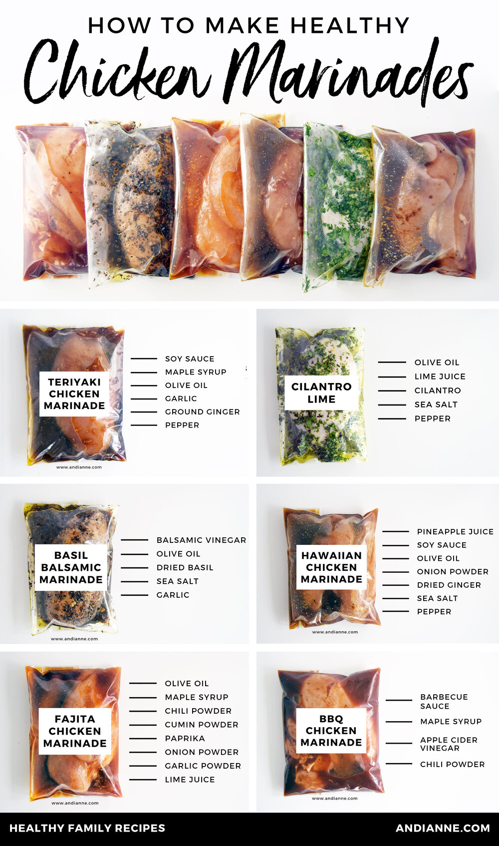Six Healthy Chicken Marinade Recipes For Easy Dinners — AndiAnne