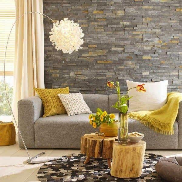 101 fotos de decoraci n de salas peque as y modernas top for Decoracion de salas en gris y amarillo