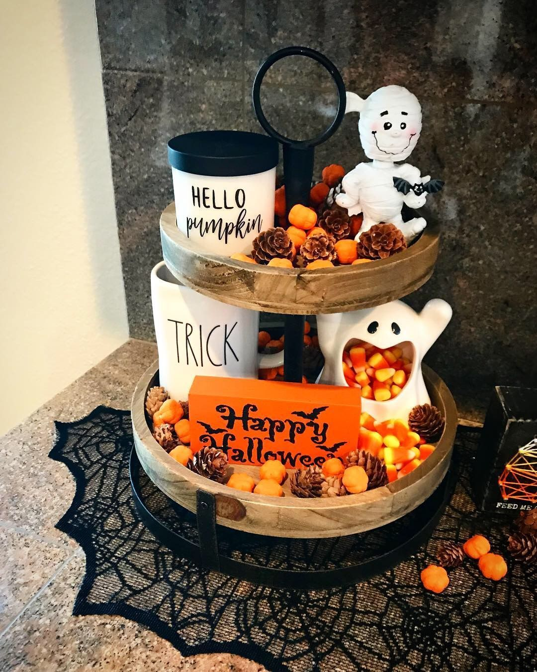 Küchenschilder Halloween Tier Tray Decor : #halloween #tier #tray , # ...