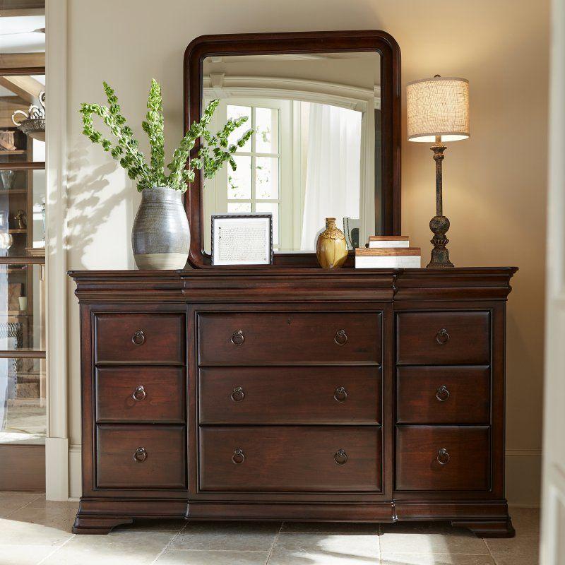 Pennsylvania House Reprise 9 Drawer Dresser With Optional Mirror Furniture Universal Furniture 9 Drawer Dresser