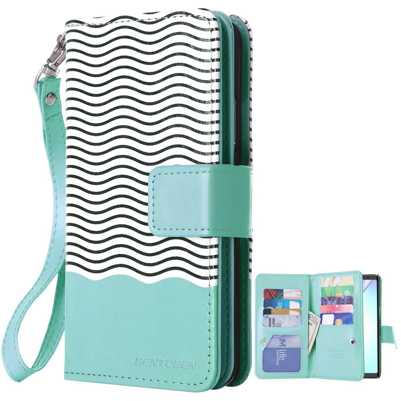 size 40 d7290 a22d7 Amazon.com: Galaxy Note 8 Case, BENTOBEN Note 8 Flip Case ...