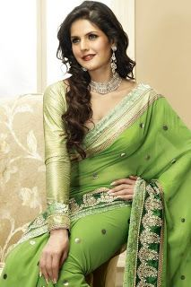26f614bcaa5 Emoo Fashion  Modern Indian Saree Fashion -Top 10 Saree Designs  saree sari  indian desi hindustani green beautiful gold elegant fashion clothes amazing   ...