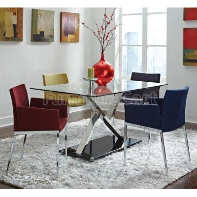 Modern Dining Room Set w Chair Choices