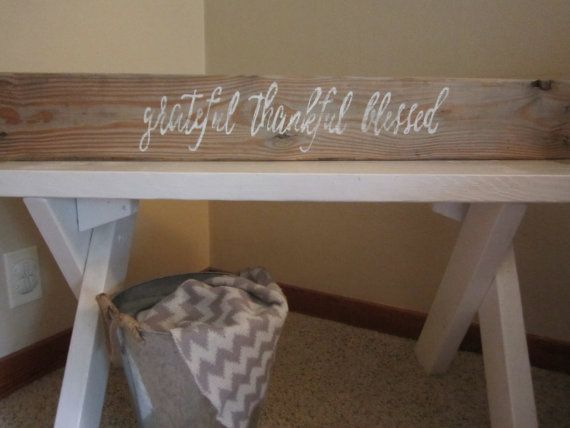 Grateful Thankful Blessed Pallet Sign Wood by KelseyNicoleDesignCo