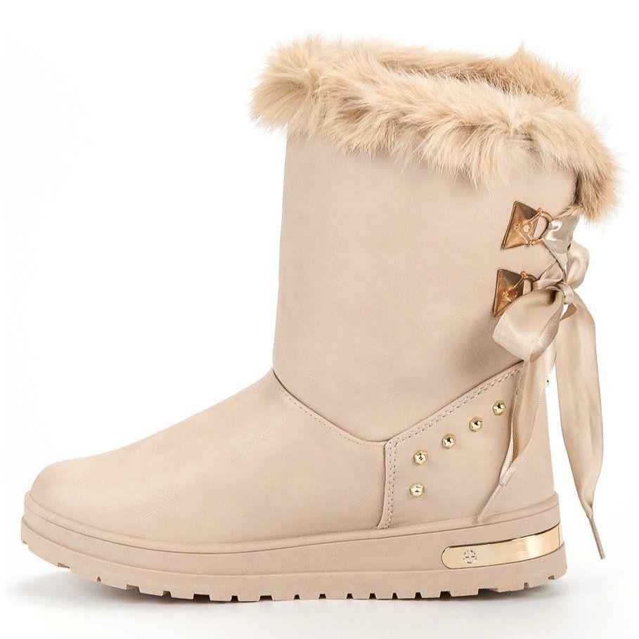 Super Me Modne Sniegowce Fashion Brazowe Fashion Boots Ugg Boots