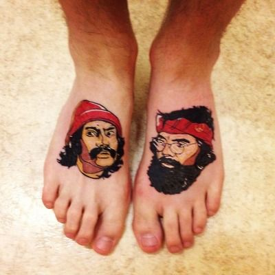 cheech and chong. done by chay @ imperial tattoo, bath, uk