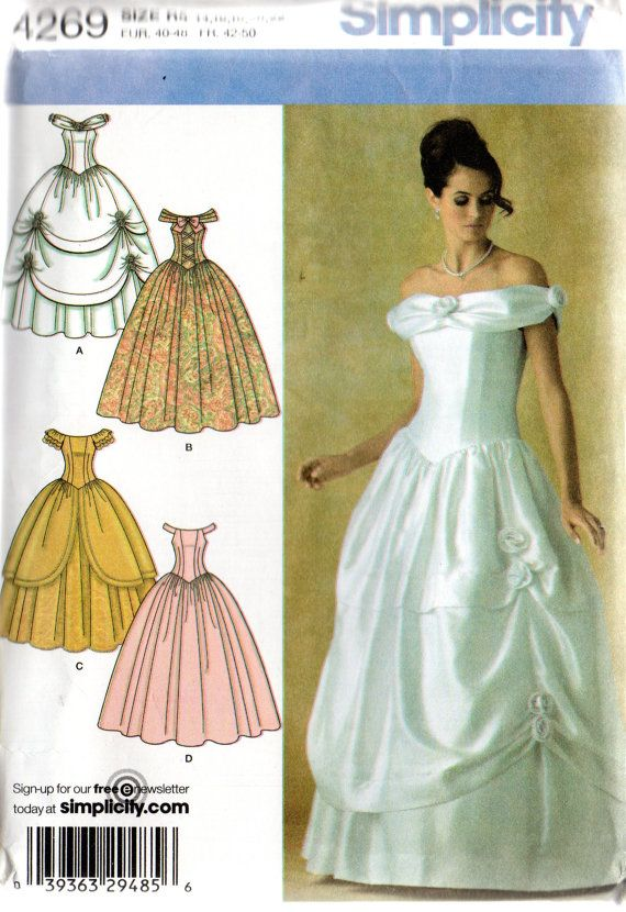 Simplicity BELLE of the BALL GOWN Pattern 4269 Misses 6 8 10 12 14 ...