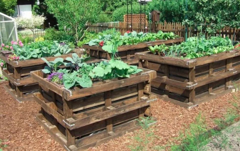 10 Wood Pallet Ideas For The Garden Garden Ideas Using Pallets Pallets Garden Pallet Garden
