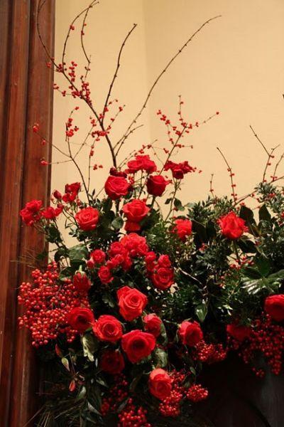 Christmas Flowers Altar