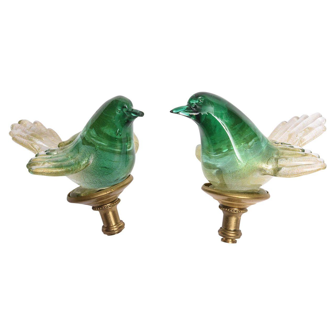 Pair Of Murano Lamp Finials 20th Century 1stdibs Com Lamp Finial Murano Lamp Vintage Table Lamp