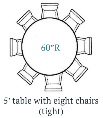 Cottage Home, 5ft Round Farmhouse Table 8 Chairs